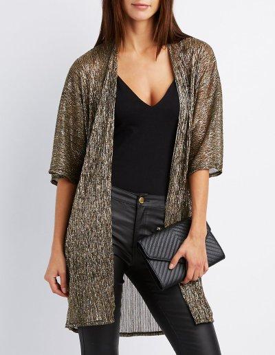 metallic-shimmer-kimono