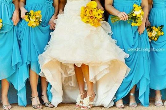 Bold Spring Wedding Color Scheme