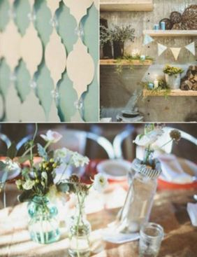 Mint Winter Wedding Decor